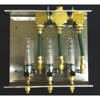 Side Mount Flow Meter Bracket with Manifold, Double