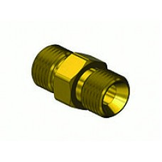 "Brass Hose Coupler 9/16""-18 ""B"" to 9/16""-18 ""B"""