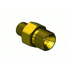 """Brass Regulator Outlet Bushing, 3/8"""" Male Thread x 9/16 - 18 """"B"""" Ext"""