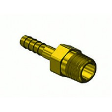 "Brass 1/8"" Ext Thread to 3/16"" Hose Barb"