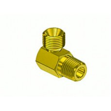 "90° 1/4"" MNPT x 9/16""-18 B Male Connector"