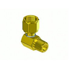 "90° 1/4"" MNPT x 9/16""-18 B Female Oxygen Connector"