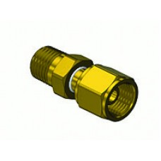 "Brass Hose Adapter 1/4"" Male Thread, Ext x 9/16"" -18 ""B"" Nut & Nipple"