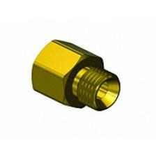 """Brass Coupler 1/4"""" FNPT x 9/16"""" - 18 B"""
