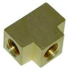"Brass Tee Block, 3/8"" MPT"