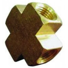 "Cross Block 1/4"", Brass"