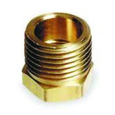 "Brass Reducer Bushing, 3/4"" Male MPT x 1/2"" Female MPT"