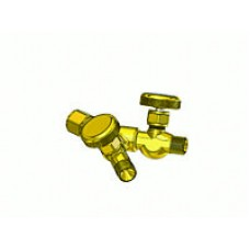 """Y"" Connector w/Ball Seat Shut Off Valve, 9/16"" -18 B Female Int Swivel x  9/16"" -18 B Male Thread outlets"