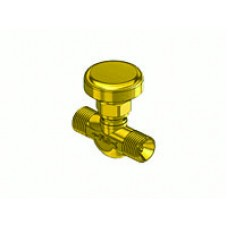 "Ball Seat Shut Off Valve, 9/16"" - 18 ""B"" Ext x 1/4"" NPT Ext"