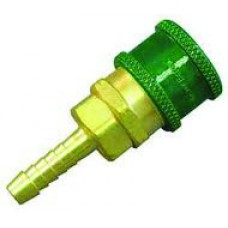 "Brass Oxygen Fittings - Quick Connect x 1/4"" Hose Shank (Female Fitting)"