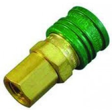 """Brass Oxygen Fittings - Quick Connect x 1/4"""" Female NPT (Female Fitting)"""