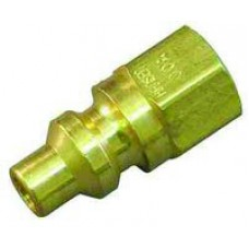 """Brass Oxygen Fittings - Quick Connect x 1/4"""" female NPT (Male Fitting)"""