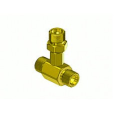 Brass Oxygen Coupler Tee, 3 CGA-540 male outlets