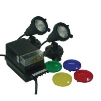 Submersible Light Kit w/2 20 watt Lights and Transformer