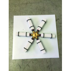 "Spider Manifold for White Ceramic Diffusers, Including Backing Board, 6"" legs"