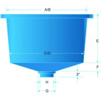 Semi Square Polyethylene Tank 180 Gallon