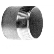 "Aluminum Half Nipple, 4"""