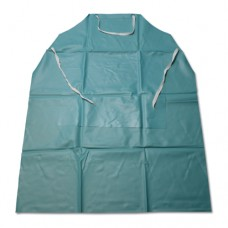 20 mil Vinyl Apron w/Stomach Patch – Green