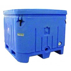 """Fish Handling Bin Insulated Blue, 48"""" x 43"""" x 35"""" and lid"""