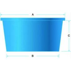 Round, Flat Bottom Polyethylene Tanks 125 Gallon