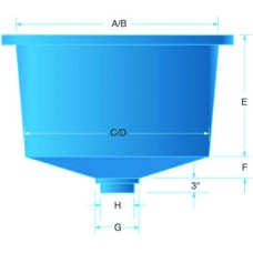 Semi Square Polyethylene Tank 50 Gallon
