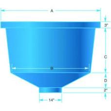 Round, Conical Bottom Polyethylene Tank 250 Gallon