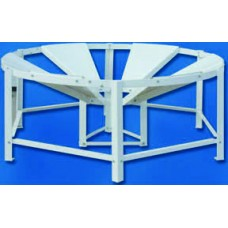 Round, Conical Bottom Polyethylene Tank 250 Gallon Plastic Stand